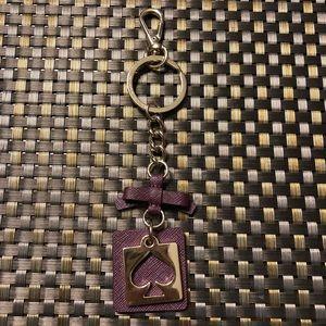 Kate Spade plum keychain